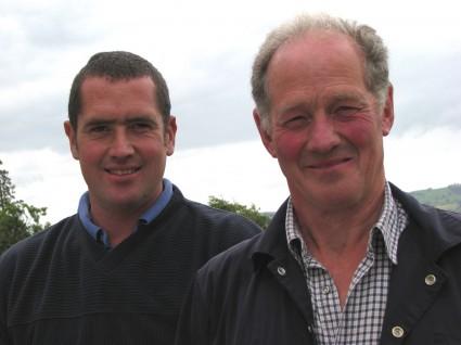 Ted Davies and son Wayne